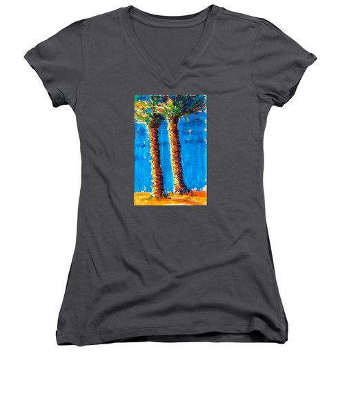 Lincoln Rd Date Palms Women's V-Neck