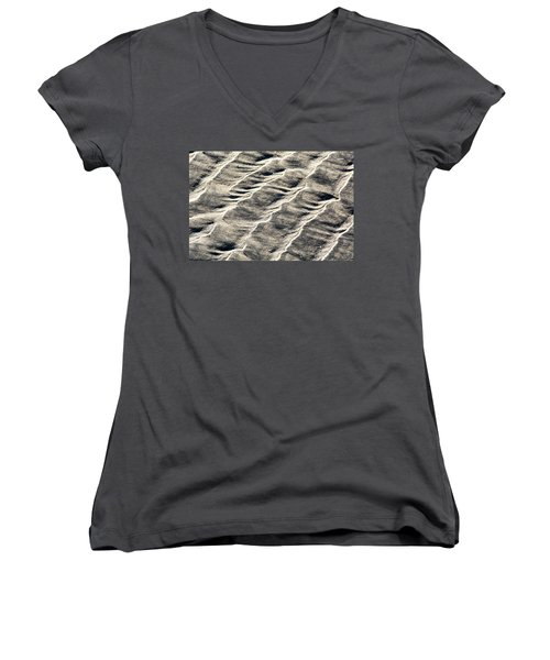 Lines On The Beach Women's V-Neck