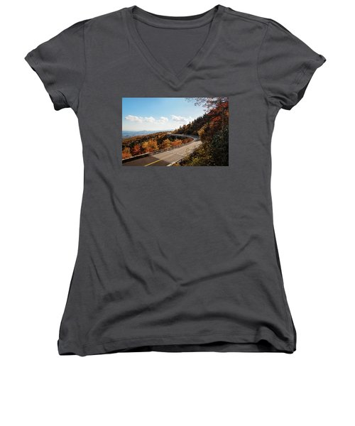 Linn Cove Viaduct Women's V-Neck (Athletic Fit)