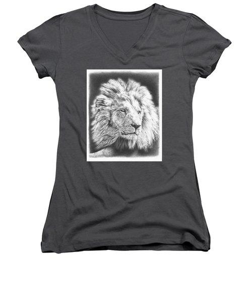 Fluffy Lion Women's V-Neck