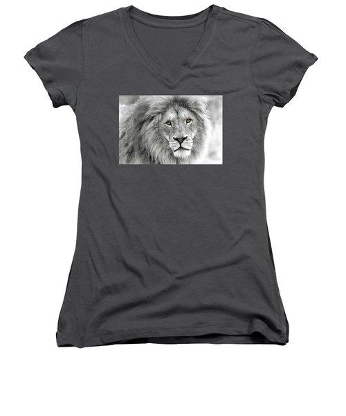 Lion King Women's V-Neck (Athletic Fit)