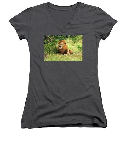 Lion Women's V-Neck