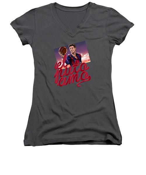 Lionel Elputoamo Women's V-Neck T-Shirt (Junior Cut) by Akyanyme