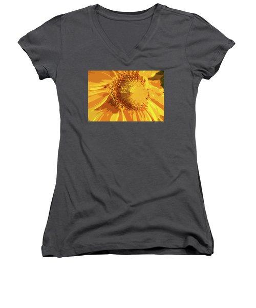 Liquid Petals -  Women's V-Neck T-Shirt