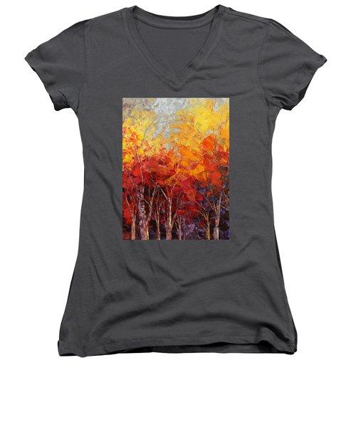 Listening To Leaves Women's V-Neck T-Shirt