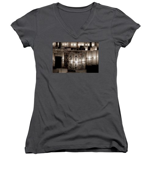 Lit Memories Women's V-Neck T-Shirt (Junior Cut) by Greg Fortier