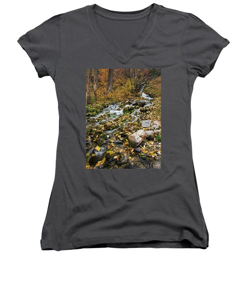 Women's V-Neck featuring the photograph Little Creek by Scott Read