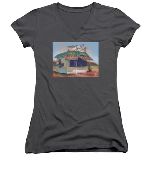 Little Drive-in On South Hawkins Ave Women's V-Neck