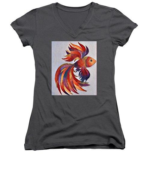 Little Fish Women's V-Neck T-Shirt