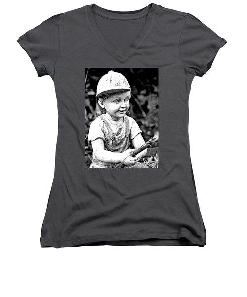 Little Fisherman Women's V-Neck T-Shirt