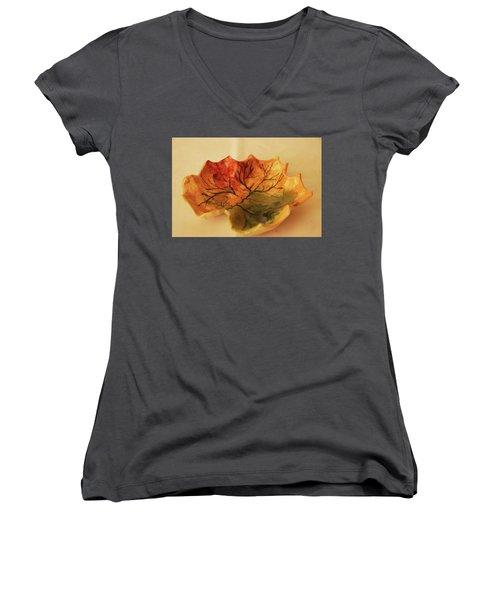 Little Leif Dish  Women's V-Neck T-Shirt (Junior Cut) by Itzhak Richter
