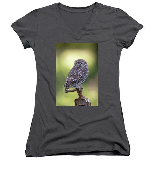 Little Owl Pipe Bender Women's V-Neck