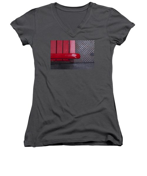 Little Red Bench Women's V-Neck T-Shirt