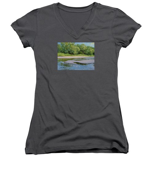 Little Sioux Sandbar Women's V-Neck (Athletic Fit)