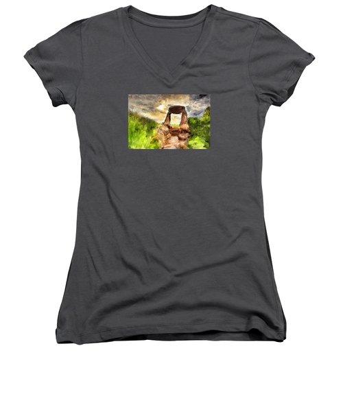 Little Stonehenge Women's V-Neck T-Shirt