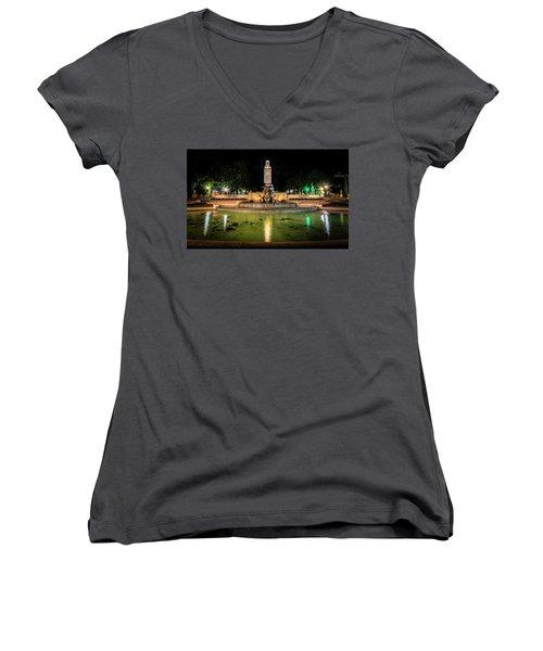 Women's V-Neck T-Shirt (Junior Cut) featuring the photograph Littlefield Gateway by David Morefield
