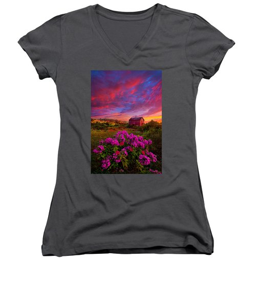Live In The Moment Women's V-Neck