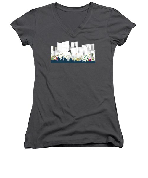Liverpool Skyline .1 Women's V-Neck