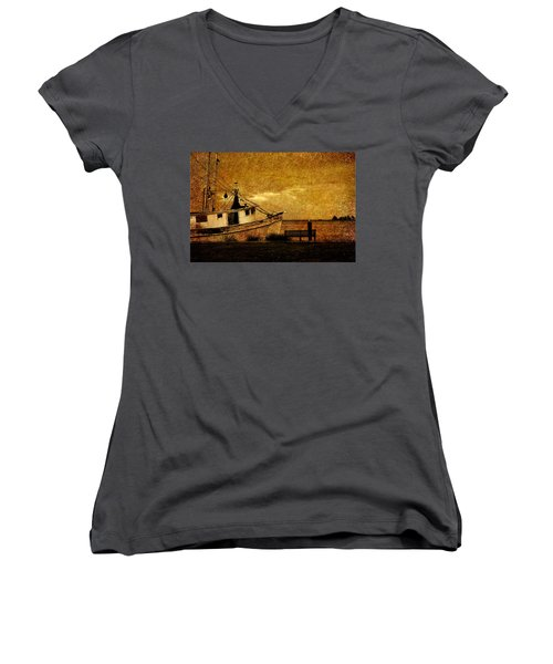 Living In The Past Women's V-Neck