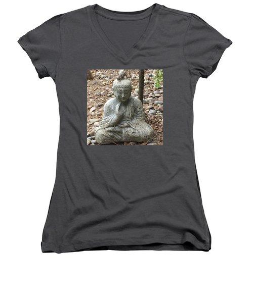 Lizard Zen Women's V-Neck T-Shirt (Junior Cut) by Kim Nelson