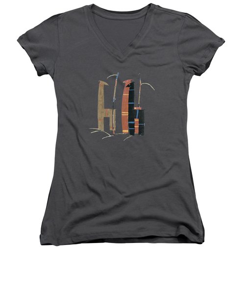 Llamas T Shirt Design Women's V-Neck