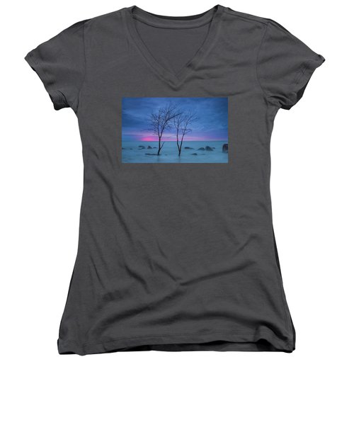 Lm Trees Women's V-Neck