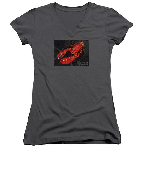Lobstah Women's V-Neck (Athletic Fit)