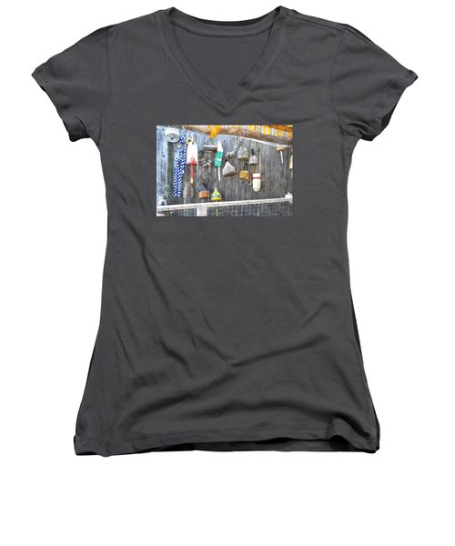 Lobster Markers Lmwc Women's V-Neck T-Shirt (Junior Cut)