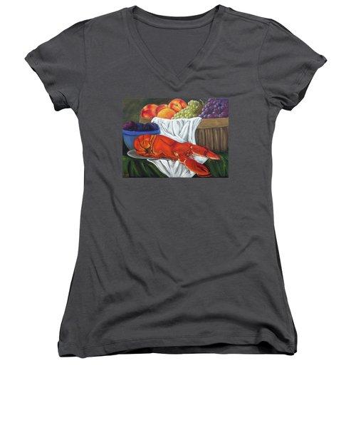 Lobster Still Life Women's V-Neck T-Shirt