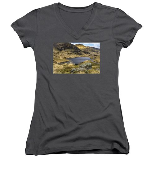 Loch Restil From Rest And Be Thankful Women's V-Neck