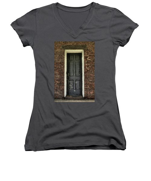 Locked Forever Women's V-Neck T-Shirt (Junior Cut) by Zawhaus Photography