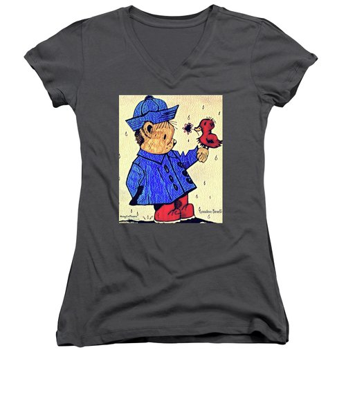 Londonbear And Bensonduck  Women's V-Neck