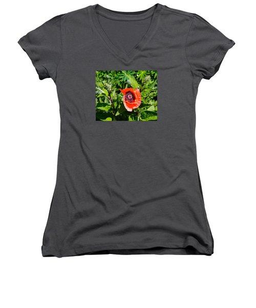 Caught My Eye Women's V-Neck T-Shirt (Junior Cut) by Allan Levin