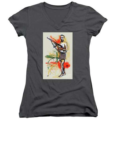 Lone Native Soldier Women's V-Neck