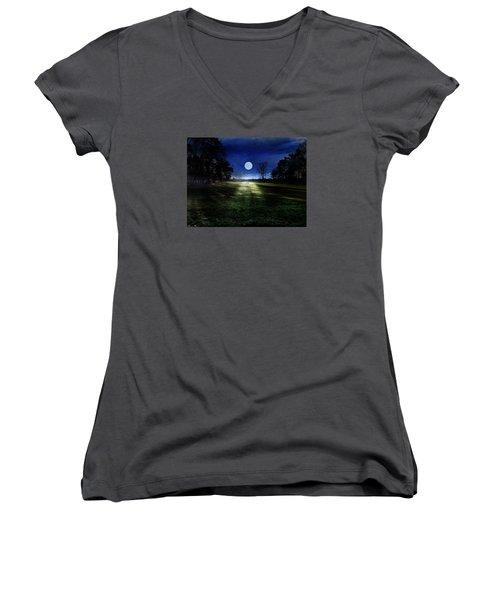 Loneliness Women's V-Neck T-Shirt (Junior Cut) by Bernd Hau