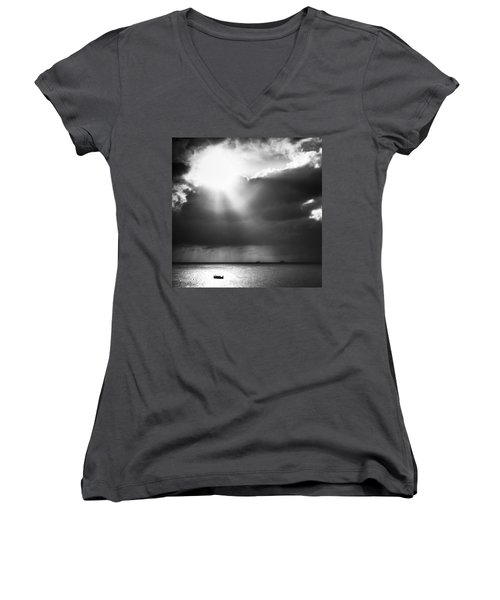 Lonely At Sea Women's V-Neck