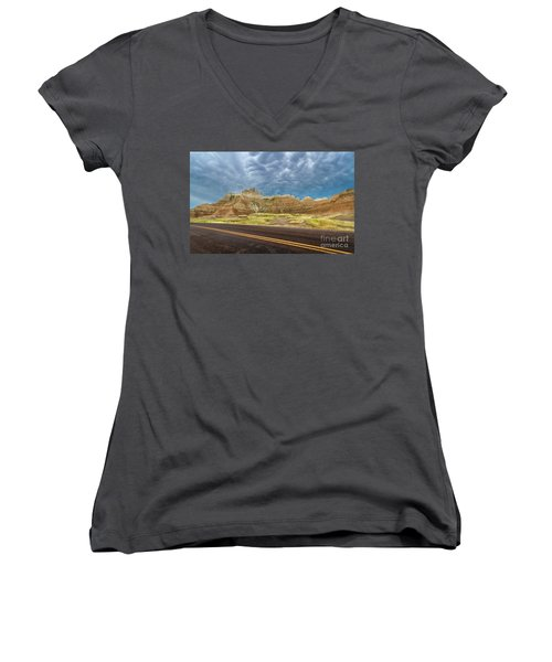 Lonesome Highway Women's V-Neck (Athletic Fit)