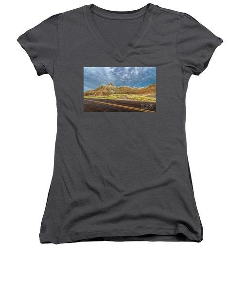 Lonesome Highway Women's V-Neck T-Shirt