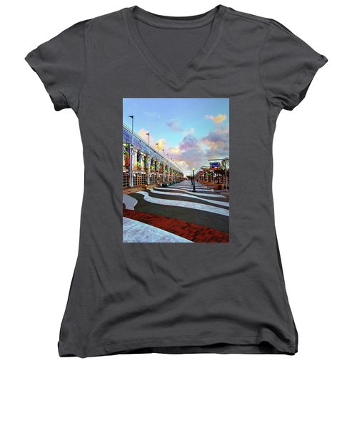 Long Beach Convention Center Women's V-Neck (Athletic Fit)