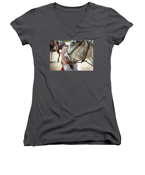End Of A Long Day Women's V-Neck (Athletic Fit)