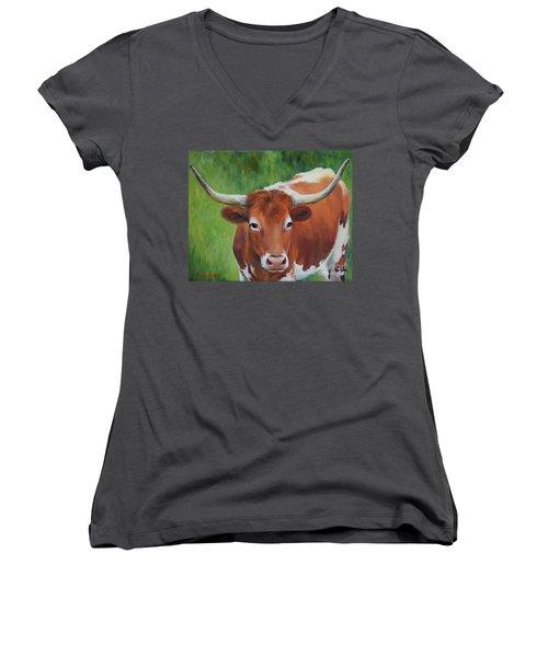 Longhorn I Women's V-Neck T-Shirt