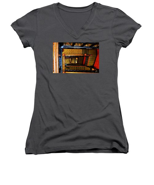 Looking Down Women's V-Neck