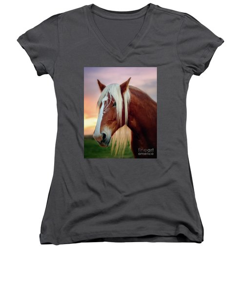 Looking For My Master Women's V-Neck T-Shirt (Junior Cut) by Tamyra Ayles