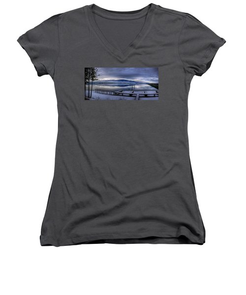 Looking North From 41 South Women's V-Neck