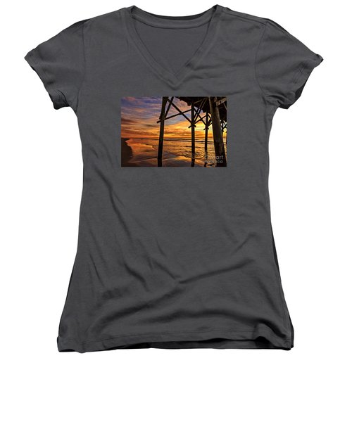 Looking Out Women's V-Neck (Athletic Fit)