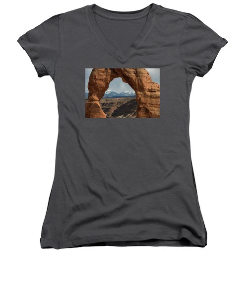 Looking Through Delicate Arch Women's V-Neck