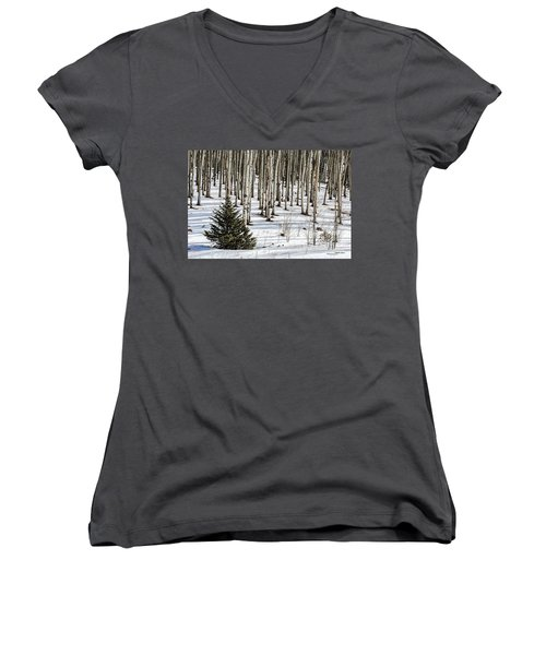 Looking Through The Aspen Women's V-Neck (Athletic Fit)
