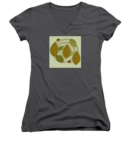 Looking To Fall Women's V-Neck (Athletic Fit)