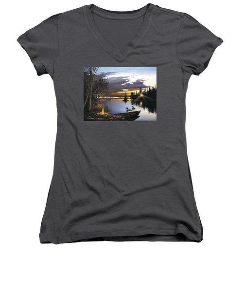 Loon Lake Women's V-Neck