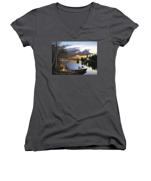 Loon Lake Women's V-Neck